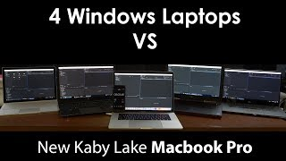 Kaby Lake Macbook Pro VS 4 Windows Laptops, Way Slower