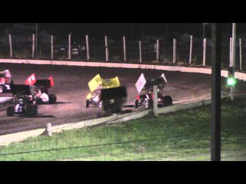 Lincoln Speedway MOWA Sprint Heat 1, 10 10 14