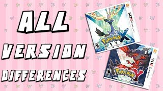 All Version Differences in Pokemon X and Y