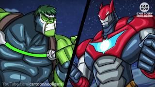 Baulk vs Ironbat - What If Battle [ Superheroes Parody ]