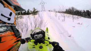 Ripping It Up in some Power Lines on my 2015 Ski-Doo Freeride