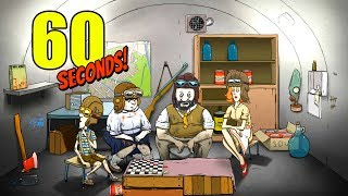 60 seconds! - New Update! - New Bomber Hat Challenge and Missing Flashlight! -  60 Seconds Gameplay