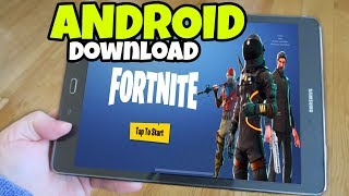 How to download Fortnite MOBILE on ANDROID Phones and Tablets (Fortnite Mobile)