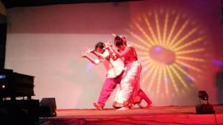 Rituparna and Arnab dancing  to Anand Shankar's music.