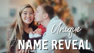 OFFICIAL BABY GIRL NAME REVEAL // The meaning behind her name