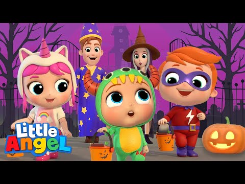 Baby Learns Trick or Treat Little Angel Halloween Song Nursery Rhymes & Kids Songs