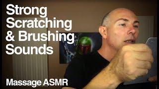 ASMR Binaural Brushing 4 Some Harsh Scratching and Brushing Sounds