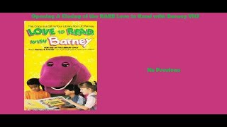 Love to Read with Barney 1993 Very Rare VHS Opening & Closing