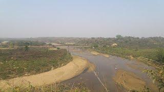 Beautiful Landscapes River Valley Panihata Sherpur, Bangladesh Border