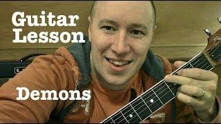 Demons- Guitar Lesson / Tutorial (Standard Chord Version) Imagine Dragons