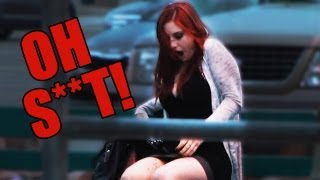 Girl Poops Herself in Public Prank