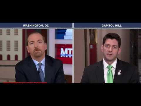 Chuck Todd Catches Paul Ryan In 2 Massive Health Care Lies