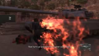 How to Successfully hit the floating boy with an attack Episode 20 Voices Side Mission MGSV