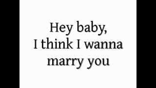 Bruno Mars - Marry You Acoustic Karaoke