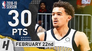Trae Young Full Highlights Hawks vs Pistons 2019.02.22 - 30 Points, 10 Assists