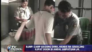 Camp Bagong Diwa ready to accept detainee Andal Jr.