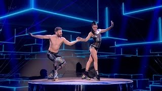 Britain's Got Talent 2015 S09E08 Semi-Finals Billy & Emily England Insanely Dangerous Roller Skaters