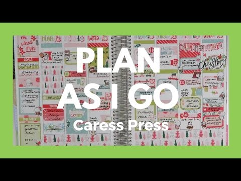 PLAN WITH ME Plan As I Go Rewind Christmas Week Ft. Caress Press