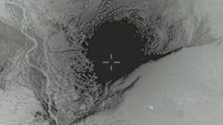 "Aerial Footage of ""Mother of All Bombs"" Striking Cave, Tunnel System"