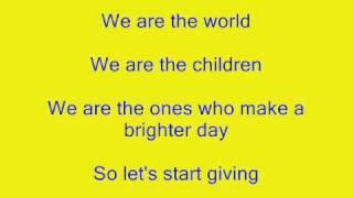 Michael Jackson, Lionel Richie & Friends - We Are The World Lyrics