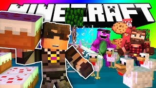 Minecraft Do Not Laugh | CAKE BOSS AND THE CHICKEN MAN (GAME)