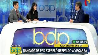 """Juan Sheput: """"Vizcarra tiene el propósito de reconquistar la confianza del pueblo"""""""