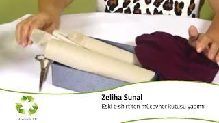 Eski T-Shirtlerden Mücevher Kutusu Yapımı / How to make a jewel box with using old t-shirt?