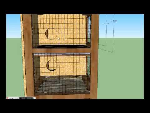 Drveni kavez za kunice