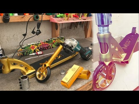 PURE GOLD MFX/DRONE SCOOTER BUILD!