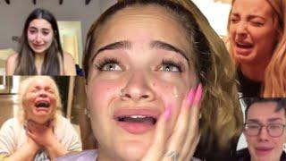 making fun of youtubers crying