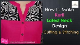 Neck Design for Kurti || Kurti Neck Design Cutting and Stitching ||