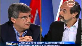Juan Sheput debate con Mauricio Mulder en Sin Medias Tintas
