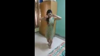 beautiful girl dance at home - private dance by himself