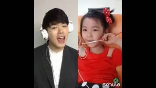 anak kecil duet nyanyi lagu korea (smule)