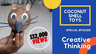 Coconut Shell Toy Created At Home - Best Out Of Waste