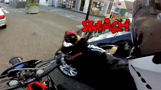 BIKER SMASH MIRROR   ROAD RAGE   CRAZY ANGRY PEOPLE vs BIKERS   [Ep. #74]