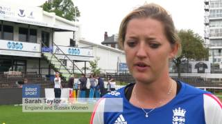 Sarah Taylor inspires budding female cricketers
