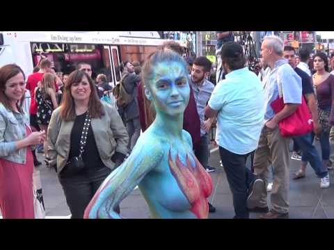 Xxx Mp4 Body Painting In Times Square Filmed On Saturday June 3 2017 3gp Sex