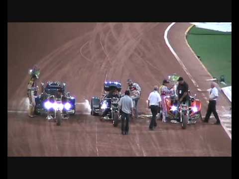 Rewaco Trikes Winners Lap at British Speedway GP