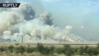 Fire causes multiple explosions at Azerbaijan ammunition depot