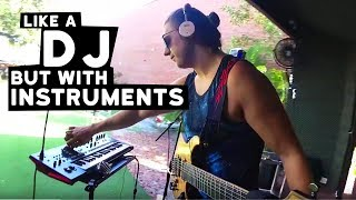 Playing Music Like A DJ but with Musical Instruments