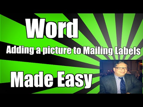 Word Adding a Picture To Mailing Labels Create Christmas Holiday Labels Mail Merge 2010 2013 2016