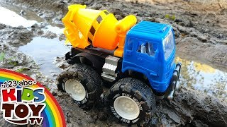 MONSTER TRUCKS IN MUD 🚚Cars help each other Toys for Kids TaTaToys