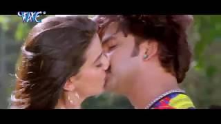 Pawan Singh Kisses Hot Akshara Singh Hot Kissing Scene Bhojpuri Movie Tridev