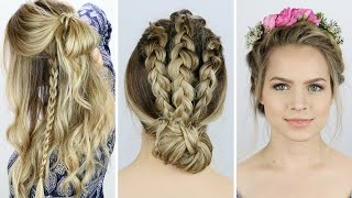 3 Festival Inspired Braids! | Hair Tutorial