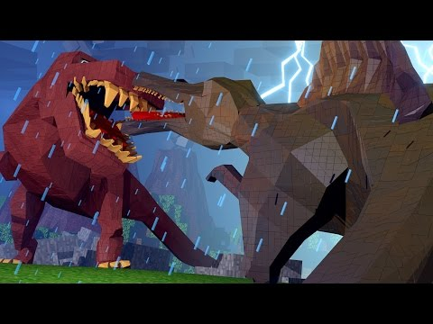 Minecraft Dinosaurs Jurassic Craft Ep 98 GIANT SPINOSAURUS ATTACKS