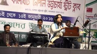 Sreemoye Bhattacharyya#live program#dole dodul dole jhulona#Manabendra Mukherjee & Shyamal Mitra