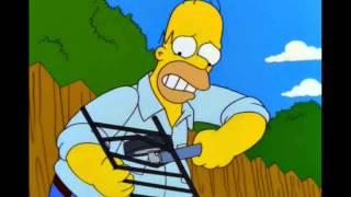 Homer builds a BBQ (turn down volume)