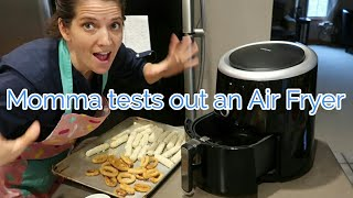 Large family Momma tests out an OMORC AIR FRYER