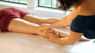 HD Leg, Thigh & Foot Massage Therapy, How To Techniques with Oil, Relaxing Spa ASMR